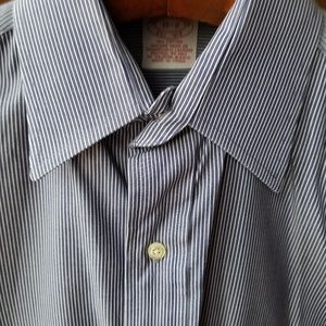 Brooks Brothers 15 32 Shirt Blue Pinstripes Cotton